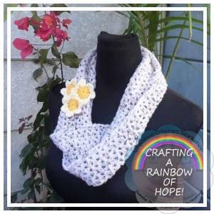 Simply V-Stitch Infinity Scarf Free Crochet Pattern