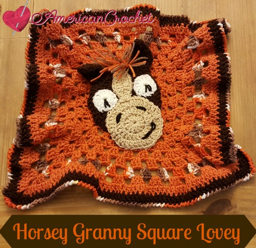 Horsey Granny Square Lovey