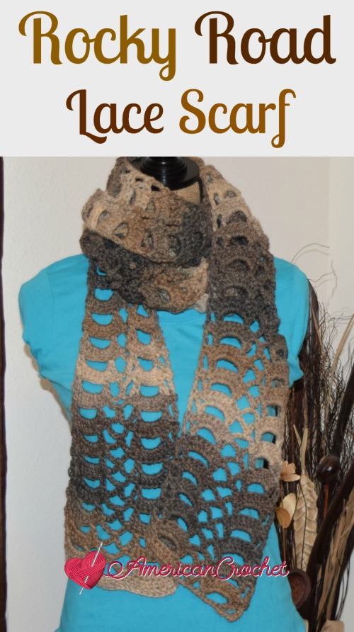 Rocky Road Lace Scarf