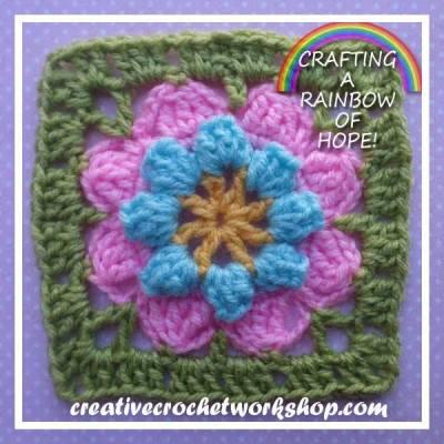 Crafting A Rainbow Of Hope! ~ Eight Petal Popcorn Flower