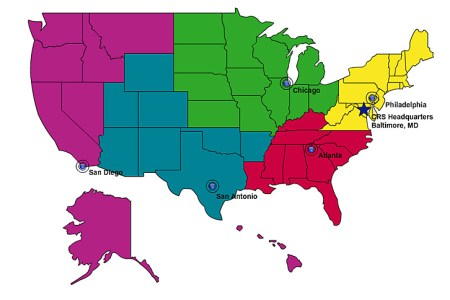 map of united states 5 regions