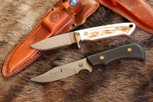 Knives of Alaska makes several excellent products. The Legacy (top) is a skinning knife with a shorter blade and a full handle to give you total knife control. The Pronghorn is a clip-point style that makes it ideal for difficult initial incision cuts. (RON SPOMER OUTDOORS PHOTO)