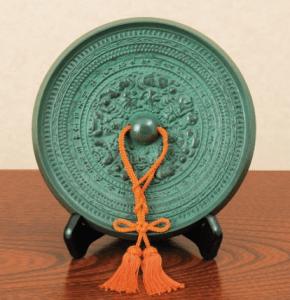 鏡開き 青銅製の鏡