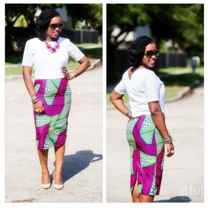 ankara combination short skirts-amillionstyles1