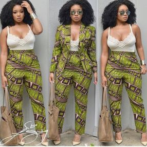 Ankara Trousers For Women AmillionStyles2