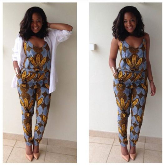 ankara jump suit for ladies