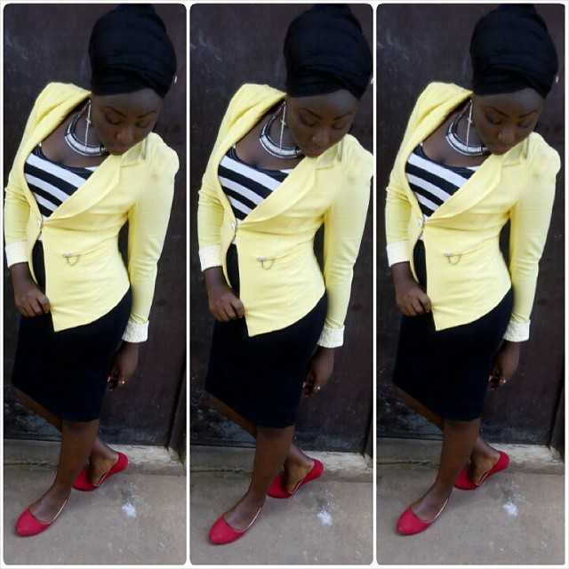 Classy And Stunning Outfit For Church amillionstyles.com @mhiz_glam