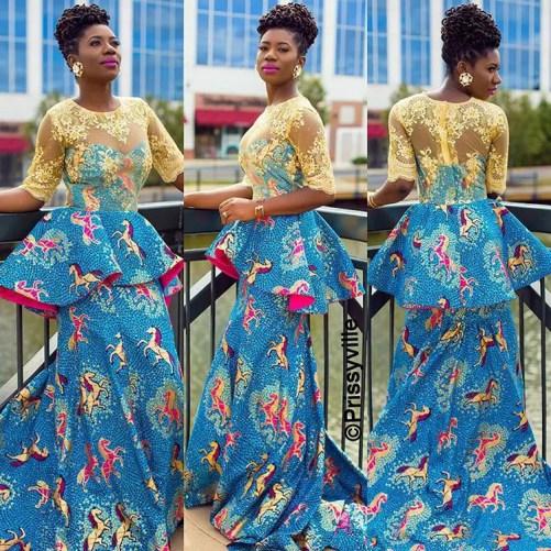 10 beautiful asoebi and ankara styles @prissyville amillionstyles.com