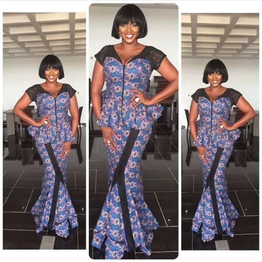 10 beautiful asoebi and ankara styles @waje amillionstyles.com
