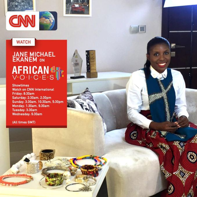 Jane Michael Ekanem ON CNN's African Voices amillionstyles