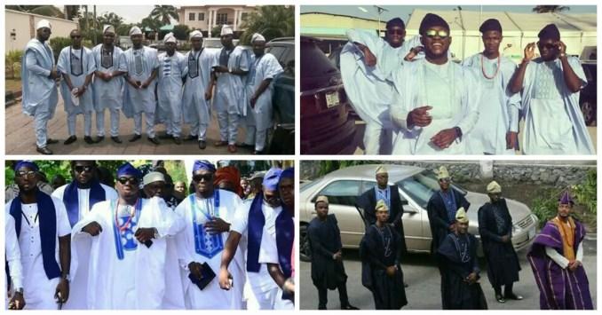 Yoruba Demons: Nigerian Grooms Men in Fabulous Traditional Outfits.
