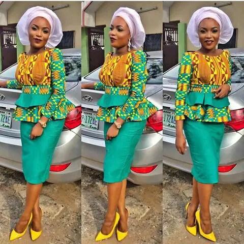 Latest Lace And Ankara  Aso Ebi Styles amillionstyles.com @nancyonuoha