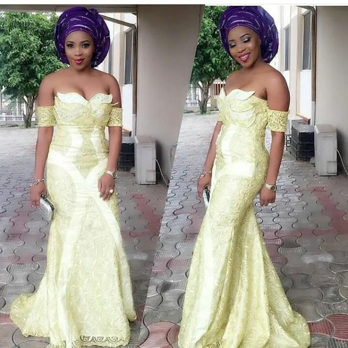 Sophisticated Nigerian Aso Ebi Styles - Amillionstyles @debbyjelly_