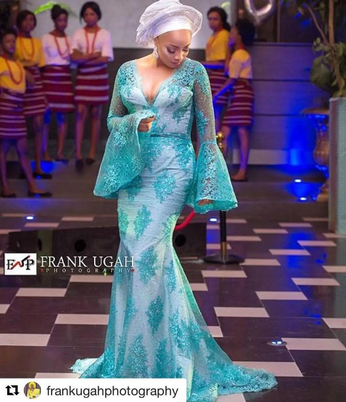 Sophisticated Nigerian Aso Ebi Styles - Amillionstyles @tokemakinwa