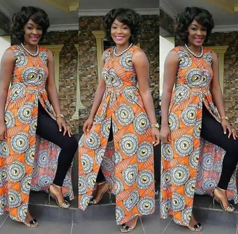 Fabulous Ankara Kimono Jacket amillionstyles @chachaekefaani