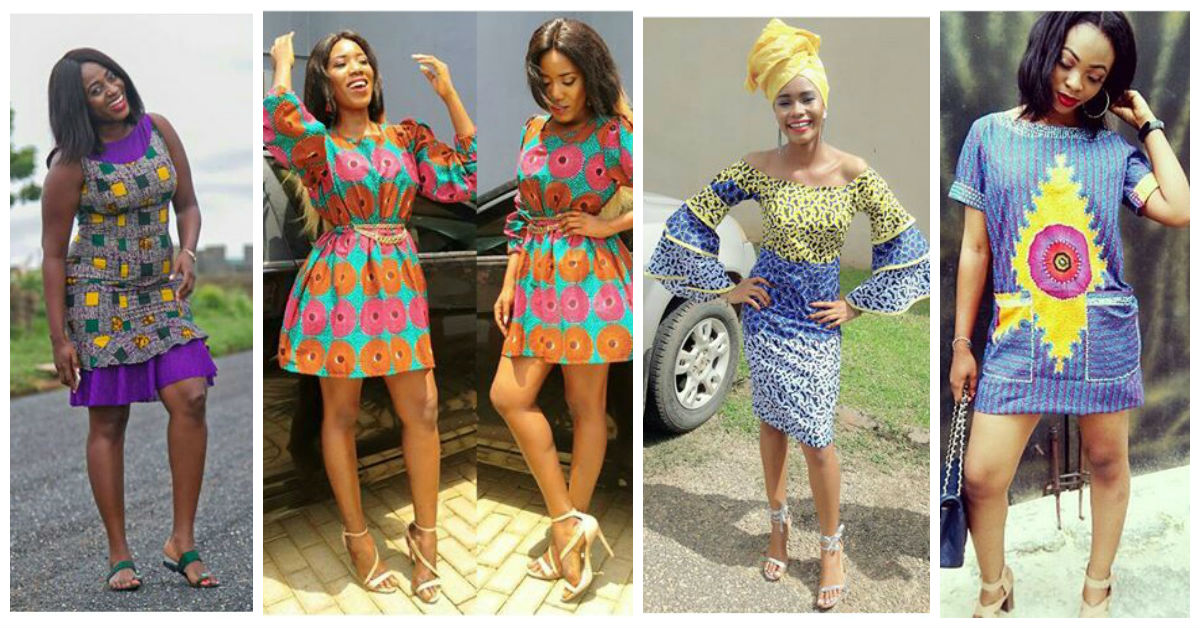 Fabulous Ankara Short Gown Dresses.