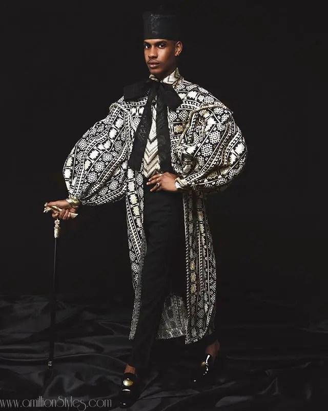 Denola Grey Shows Men How To Wear A Kimono
