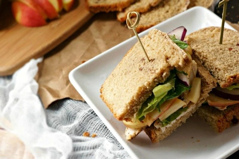 Roasted Turkey, Apple, and Cheddar Sandwich: Slices of roasted turkey ...