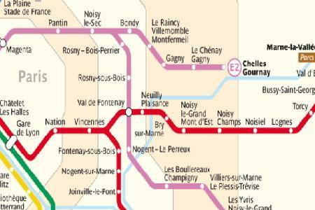 Paris Train Stations Map - Paris transit map
