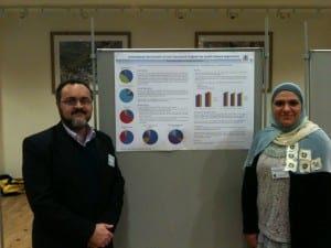 Deema AbdalHafeth and Amr Ahmed at the Vision & Language Net workshop, 13-14th Dec 2012, Sheffield, UK.
