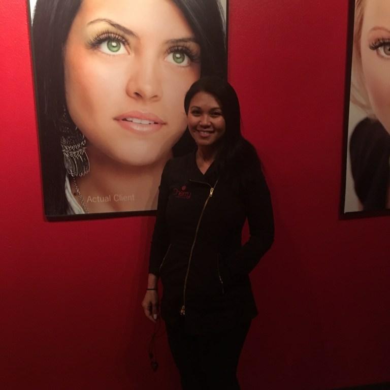 Marianne Cortez, Trainer/Artist at Cherry Lash Lounge.