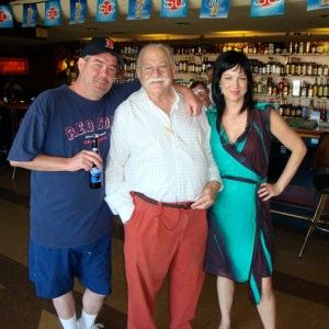 Micky and I enjoyed a drink with a friendly local at Atomic Liquor