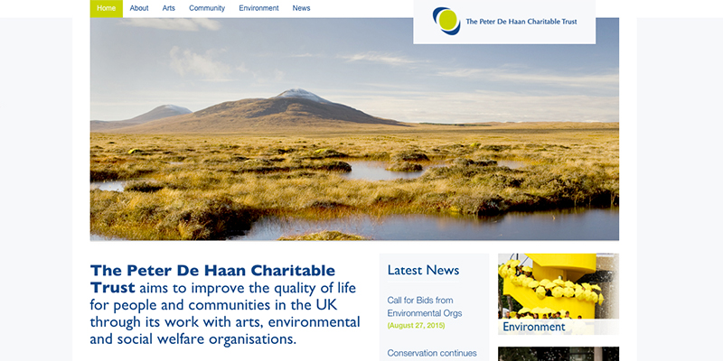 Amy Douthett Communications | The Peter De Haan Charitable Trust | Website