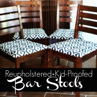 Reupholstering +Kid-Proofing: our bar stools