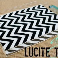 DIY Easy lucite tray