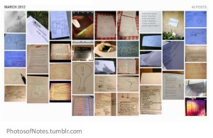 photosofnotes, photos, notes, tumblr, amy robinson, quantified curiosity,