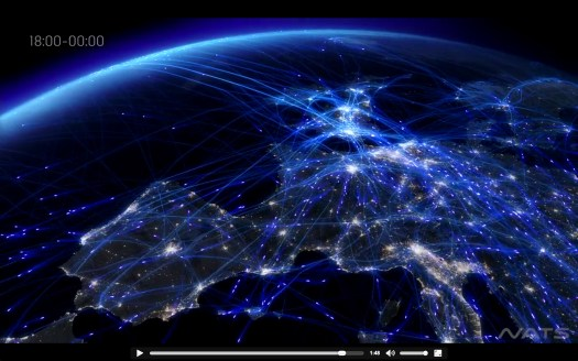 air traffic over europe NATS, infographic, earth