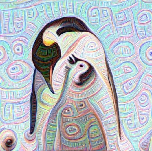 penguins, deepdream, deep dream, instagram