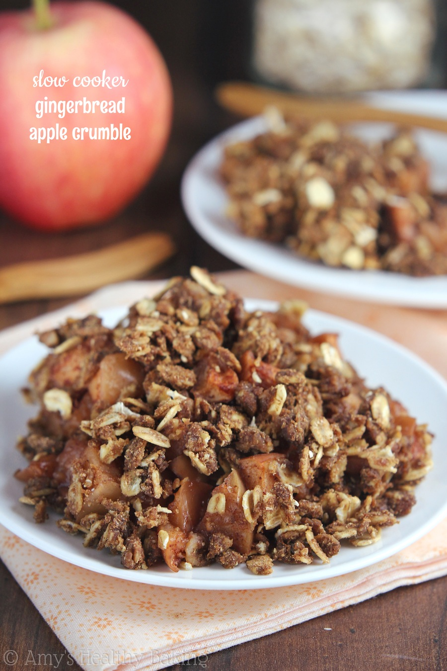 Famed Evenhealthy Slow Cooker Gingerbread Apple Crumble Healthy Baking Crockpot Apple Dessert Recipes Easy Vegan Crockpot Dessert Recipes Slow Cooker Gingerbread Apple Crumble So Easy To nice food Crockpot Dessert Recipes
