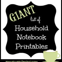 Free Household Notebook Printables *Updated*