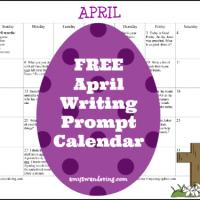 FREE April 2015 Writing Prompt Calendar