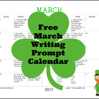 FREE March 2015 Writing Prompt Calendar