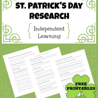 St. Patrick's Day Research for Independent Learning