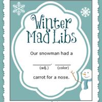 Winter Mad Libs