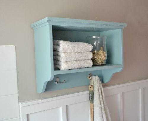$20 Martina Bath Wall Shelf with Hooks