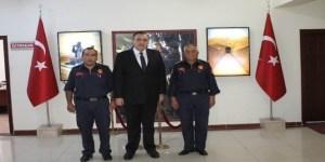 İtfaiye Teşkilatı, Polatlı Kaymakamı Tunçer'i ziyaret etti