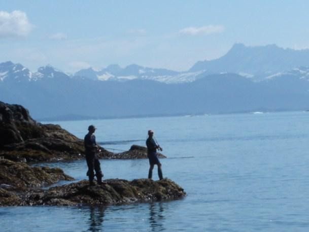 Taking advantage of some shoretime in the Valdez Arm.