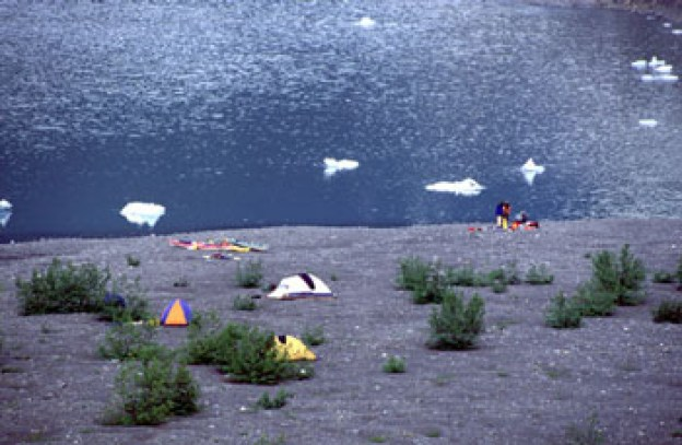 The newly uncovered land near the retreating glaciers makes for great camping and easy hiking.