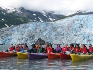 The Trustwalk in front of Shoup Glacier