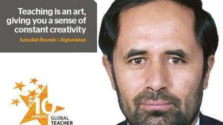 Azizullah Royesh, the inspiring teacher