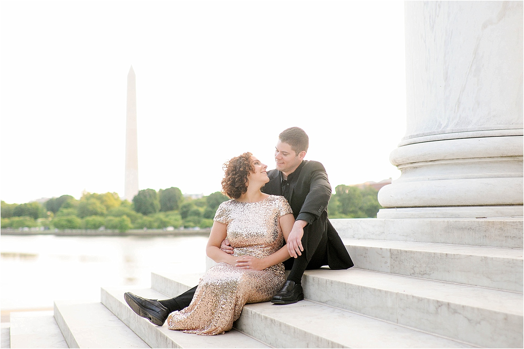 Classic Washington DC engagement session at the Jefferson Memorial51