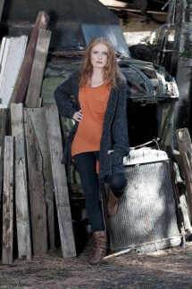 Anais Chaine Photography Auckland, NZ, wearing Selector clothing. Fashion photoshoot in Bethells, Waitekere range
