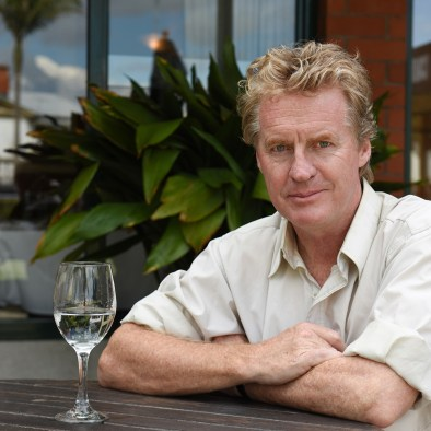 Don McGlashan with a glass of water
