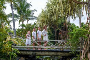 Family on the bridge at the Outrigger
