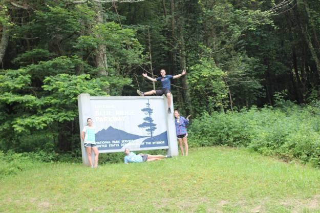 Blue Ridge Parkway Sign - Group Shot
