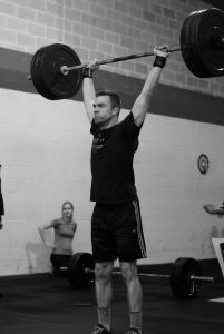 Dave Warfel clean & jerk 185#